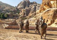 Nabatean soldater Royaltyfri Fotografi