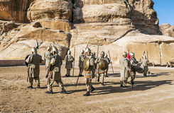 Nabatean soldiers Stock Photos