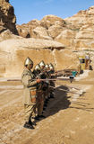 Nabatean soldiers Royalty Free Stock Images