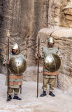 Nabatean soldiers Stock Images