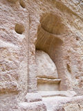 nabatean ställedyrkan för gud Arkivfoto