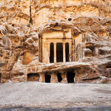 Nabatean Temple in Little Petra town Royalty Free Stock Images