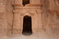 Nabatean tomb in Madaîn Saleh archeological site, Saudi Arabia.  stock image