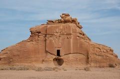 Nabatean tomb in Madaîn Saleh archeological site, Saudi Arabia.  royalty free stock photo
