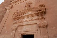 Nabatean tomb in Madaîn Saleh archeological site, Saudi Arabia Stock Images