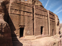 Nabatean tombs at Petra. Jordan. Carved tombs at Petra. Jordan Stock Images