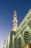Nabawi清真寺的塔 免版税库存照片