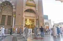 Nabawi清真寺 免版税库存图片