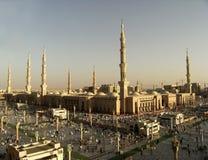 nabawi Σαουδάραβας μουσουλμανικών τεμενών medina της Αραβίας Στοκ φωτογραφία με δικαίωμα ελεύθερης χρήσης