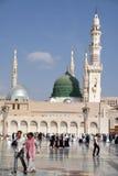 nabawi Σαουδάραβας μουσουλμανικών τεμενών medina της Αραβίας Στοκ εικόνα με δικαίωμα ελεύθερης χρήσης