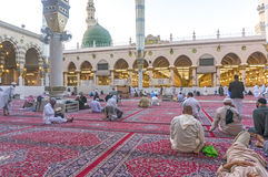 Nabawi-Moschee Stockfoto