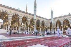 Nabawi-Moschee Stockfotografie