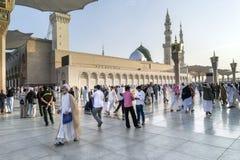 Nabawi Moschee, Medina, Saudi-Arabien Stockbild