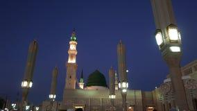 Nabawi-Moschee während der goldenen Stunde des Sonnenaufgangs