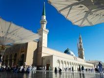 Nabawi moské i Medina Royaltyfri Fotografi