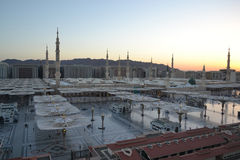 Nabawi Mosque in Medina at morning Royalty Free Stock Images