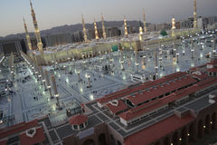 Nabawi Mosque in Medina at morning time Stock Images