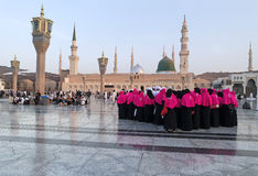 Nabawi Mosque, Medina, Saudi Arabia Royalty Free Stock Photo