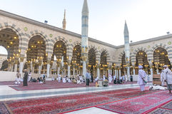 Nabawi mosque Stock Photography