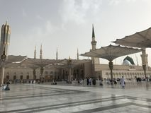 Nabawi Mosque- The Prophet Mosque Stock Photography
