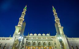 Free Nabawi Mosque, The Prophet Muhammad Mosque Stock Images - 178847274