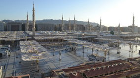 Nabawi Mosque time lapse from dawn to morning Royalty Free Stock Photography