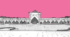 Nabawimoskee die Moslimgodsdienst Ramadan Kareem Holy Month bouwen Royalty-vrije Stock Afbeelding