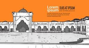 Nabawimoskee die Moslimgodsdienst Ramadan Kareem Holy Month bouwen Stock Fotografie