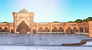 Nabawimoskee die Moslimgodsdienst Ramadan Kareem Holy Month bouwen Royalty-vrije Stock Afbeeldingen
