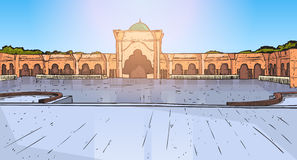 Nabawimoskee die Moslimgodsdienst Ramadan Kareem Holy Month bouwen Royalty-vrije Stock Foto's