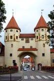 Nabburger Tor (Nabburg's Gate). One of the four historical city gates of Amberg, Oberpfalz, Bavaria, South Germany Royalty Free Stock Photos