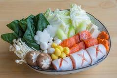 Nabe dei frutti di mare, alimento giapponese immagini stock libere da diritti