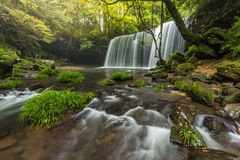 Nabegataki waterfalls with beautiful natural landscape in Kumamoto, Kyushu, Japan.  stock photos