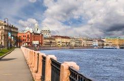 Naberezhnaya Makarova, St. Petersburg, Russia Stock Image