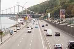Naberezhne highway in Kiev Royalty Free Stock Photos