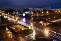 Naberezhnye Chelny,俄罗斯- 2014年10月7日:都市风景视图为 免版税库存图片