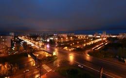 Naberezhnye Chelny,俄罗斯- 2014年10月7日:都市风景视图为 免版税图库摄影
