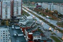 Naberezhnye Chelny,俄罗斯- 2014年10月7日:都市风景视图为 库存照片