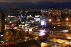 Naberezhnye Chelny,俄罗斯- 2014年10月7日:都市风景视图为 免版税库存照片