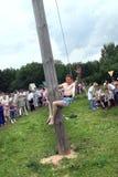 Naberezhnye Chelny, Rússia - 6 de junho de 2006: corrida de cavalos no olá! Imagem de Stock