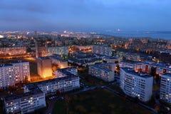 Naberezhnye Chelny, Rússia - 7 de outubro de 2014: noite l do ‹do †do ‹do †da cidade Fotos de Stock