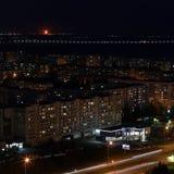 Naberezhnye Chelny, Rússia - 7 de outubro de 2014: noite l do ‹do †do ‹do †da cidade Imagens de Stock