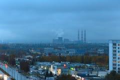 Naberezhnye Chelny Rosja, Październik, - 7, 2014: pejzażu miejskiego widok dla Zdjęcia Royalty Free