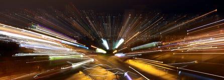 Naberezhnye Chelny, Rusia - 7 de octubre de 2014: luces de la noche de la ciudad Imágenes de archivo libres de regalías