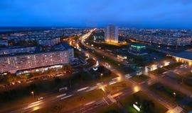 Naberezhnye Chelny, Rusia - 7 de octubre de 2014: noche l del ‹del †del ‹del †de la ciudad Fotos de archivo