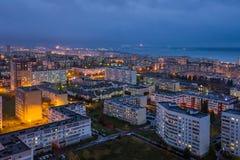 Naberezhnye Chelny, Rusia - 7 de octubre de 2014: noche l del ‹del †del ‹del †de la ciudad Imagenes de archivo