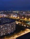 Naberezhnye Chelny, Russie - 7 octobre 2014 : nuit l de ‹d'†de ‹d'†de ville Images libres de droits