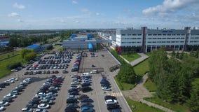 NABEREZHNYE CHELNY, TATARSTAN, RUSSIA - AUGUST 08, 2019: Aerial view Kamaz-Master headquarters truck assembly plant