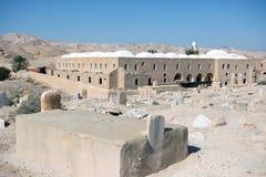 Nabi芭蕉科站点在沙漠 免版税库存照片