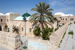 Nabi Musa site in the desert. Nabi Musa site in the Judean desert , Israel Royalty Free Stock Image
